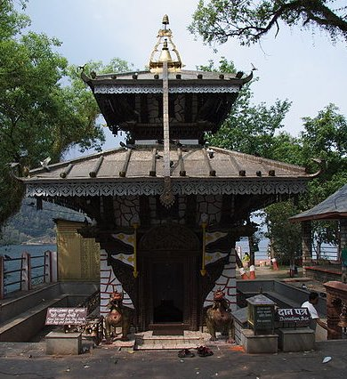 Barahi Temple on Phewa Lake, Pokhara